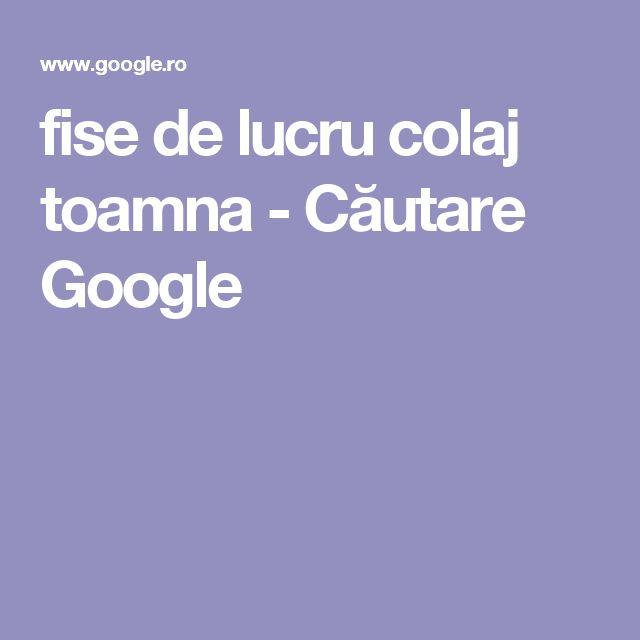 fise de lucru colaj toamna - Căutare Google