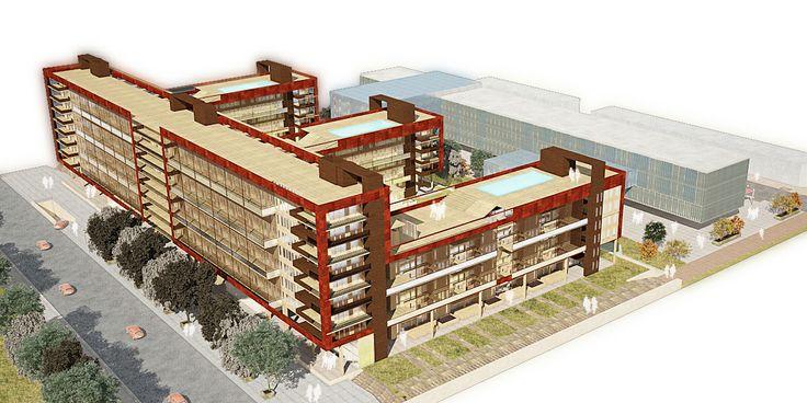 Maqueta Virtual (Conjunto Habitacional + Cento de Convenciones) -Real Render 3D-