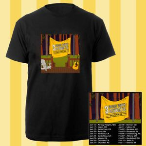 3 Doors Down Acoustic Back Porch Jam tour dates jan-feb 2018 black tees; Material 100% cotton, Basic style; Short sleeve;