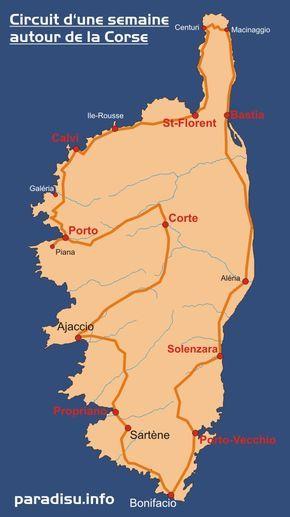 Circuit en Corse dans une semaine