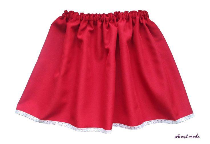Spódnica regionalna dla dziewczynki 3 do 7 lat - Anetmoda - Spódniczki dla dziewczynek