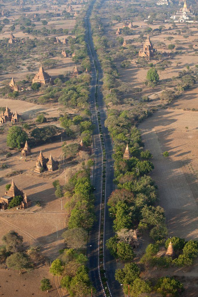 Bagan from above . Myanmar
