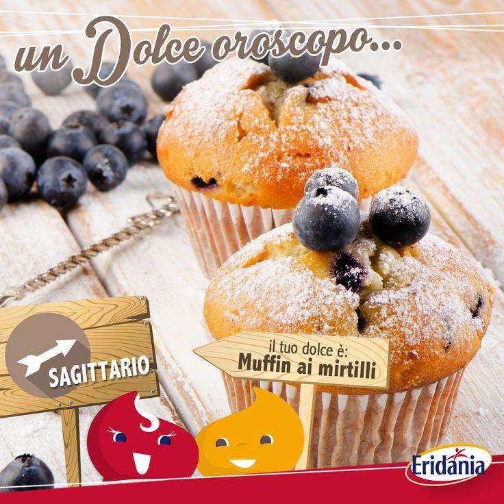 #Sagittario, ecco alcuni Muffin ai Mirtilli, sono proprio il dolce perfetto per te ;) #oroscopodolce #oroscopo