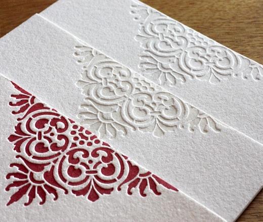 love these! super classy letterpress wedding invitations - Roco by Ajalon