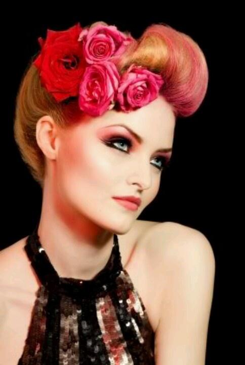 Pink hair modern pinup