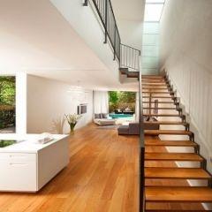minimal yet warm, wide floorboards