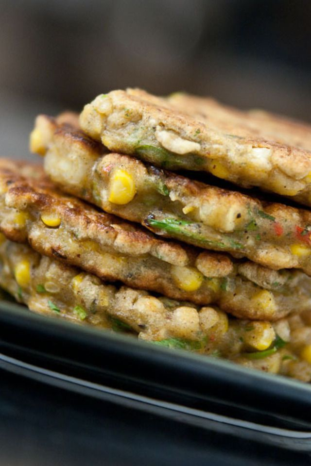Spicy Corn Fritters | Spicy | Pinterest