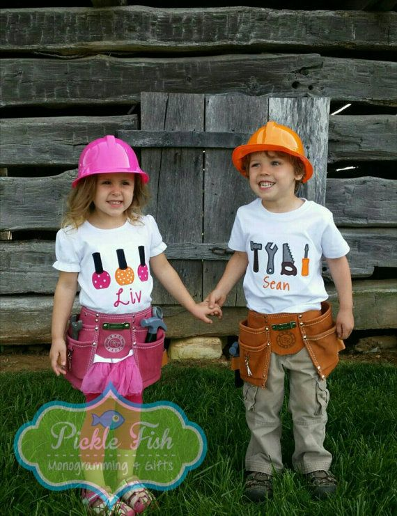 Check out this item in my Etsy shop https://www.etsy.com/listing/235578676/twins-birthday-outfit-hammer-and-nails