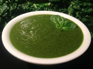 Paleo Silverbeet and Basil Soup