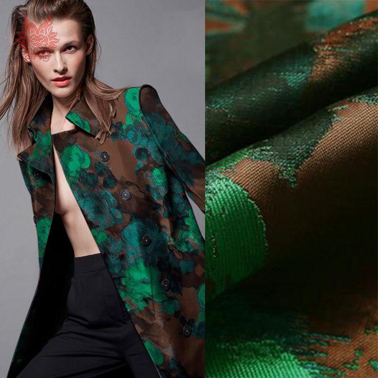 Высокого ранга американский стиль зеленый flroal жаккардовые парча ткань для / осень платье / пальто / костюмы средней толщины SP2334 купить на AliExpress