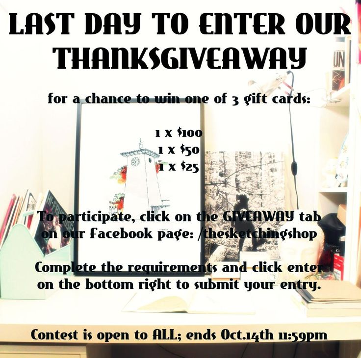 #Artlovers, Have you entered our #giveaway #contest yet? Last chance to win a GC!  http://gvwy.io/sg8lrxm  #shopart