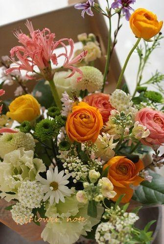 【今日の贈花】99歳♪お誕生日おめでとう|Flower note の 花日記 (横浜・上大岡 アレンジメント教室)
