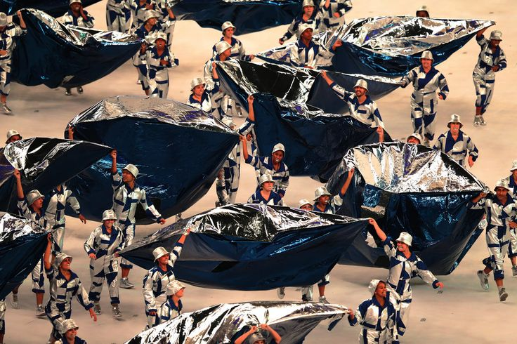 Artists preform during The 2016 Summer Olympics Opening Ceremony at Maracana Stadium on August 5, 2016 in Rio de Janeiro, Brazil.
