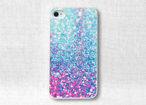 iPhone 4 Case, iPhone 4 Cases, iPhone 4S Case, iPhone 4 Cover - Printed Glitter Image - 155. $15.00, via Etsy.
