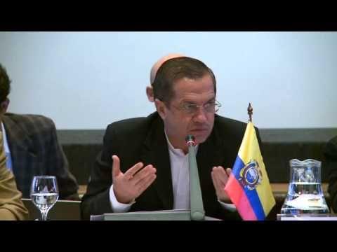 III Conferencia de la Convención Americana sobre DDHH. Montevideo, 21 de enero de 2014.- Intervención del Ministro de Relaciones Exteriores y Movilidad Humana, Ricardo Patiño en la III Conferencia de la Convención Americana sobre Derechos Humanos.