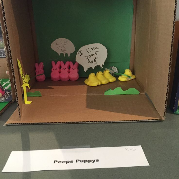 Bedford Library 2016 Peeps Contest | Peeps Puppys | In the Grades K-5 Category