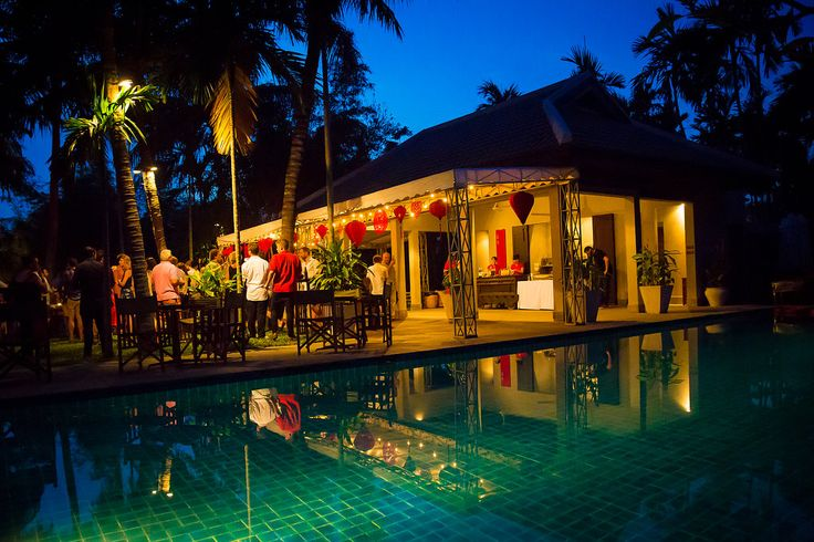 The Pool!  Where many a wedding reception party ends up late at night! #HoiAnEventsWeddings #HoiAn