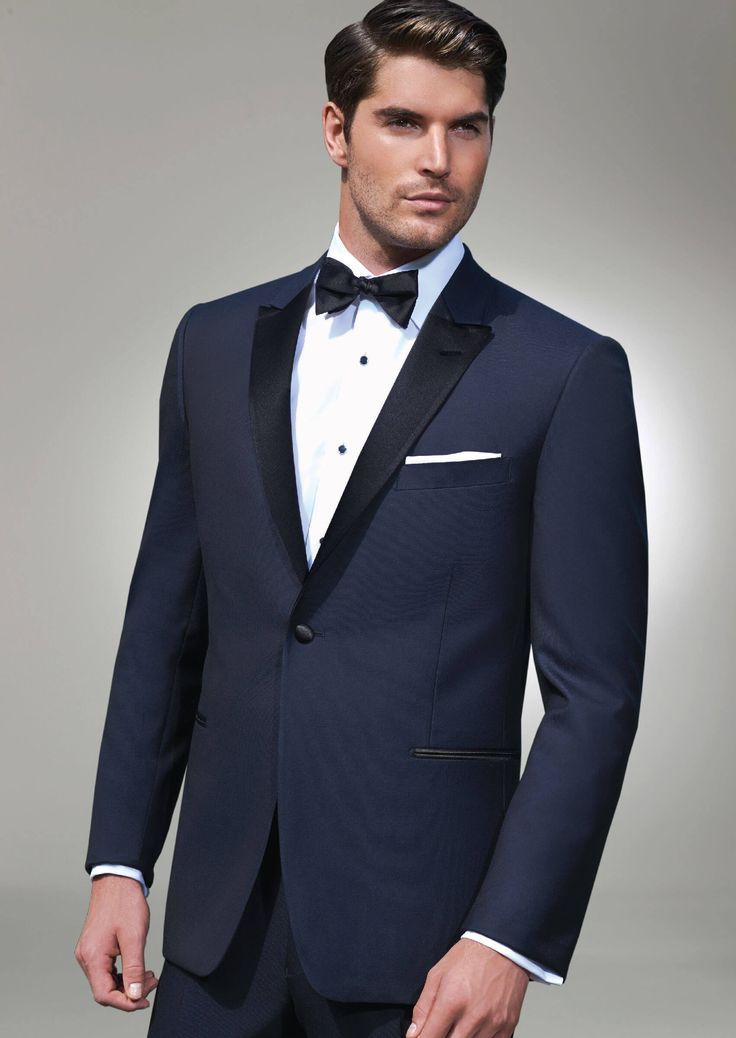 Navy Blake One Button Peak by Ike-Behar - Tuxedos