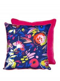 Winter Floral Cushion - Polyester Fill