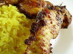 Resep Ayam Panggang Nasi Kunyit dan Membuat Ayam Panggang Nasi Kunyit