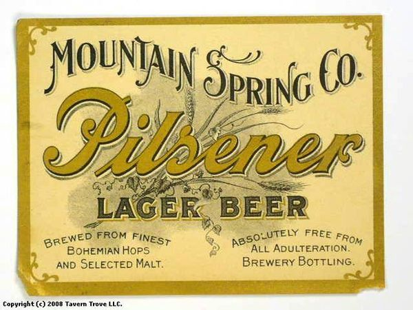 Pilsener Lager Beer Labels Mountain Spring Co 38800 1 Showcase of Over 45 Inspirational Beer Logos and Labels