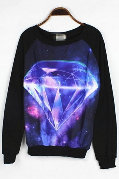 Diamond Graphic Sweatshirt OASAP.com ❤️Pinterest: Jayde S.