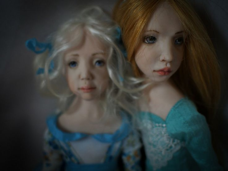 """Two A."". Handmade OOAK dolls. #romantic #wonders #doll #OOAK #home #decor #decoration #art #artwork #artdoll #silk #polymer #clay #homemade #handmade #greece #oneofakind #χειροποίητο #πηλος #πολυμερικος #διακοσμηση #σπιτι #κουκλα #τεχνη #πολιτισμός #кукла"