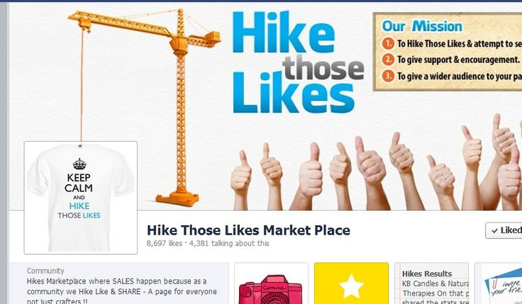 Hikes Marketplace where SALES happen because as a community we Hike Like & SHARE - A page for everyone not just crafters !!