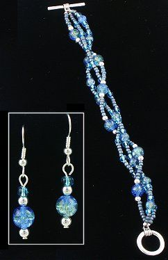 IDEA: Water Passage Bracelet and Earring Set (eebeads.com)