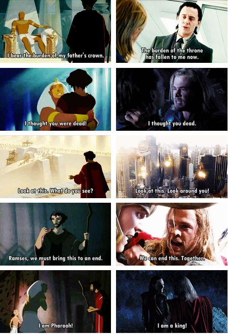 I wondered why I loved Thor and Loki so much. Turns out it parallels one of my favorite movies of all time!
