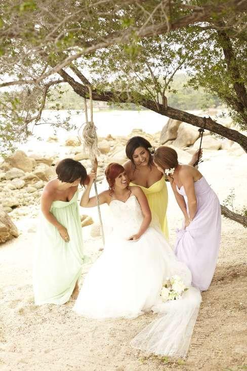 Hiding from the sun in pastel hues #farawayweddings #weddingsinthailand #pawanthornluxuryvillas