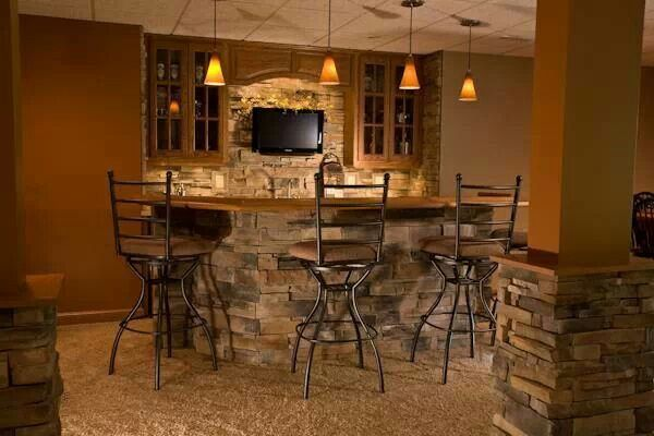 Stone Bar Basement Remodel Ideas Pinterest The O