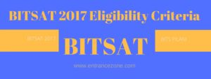 BITSAT 2017 Eligibility criteria details here, 12th exam should be clear and appeared. And for details regarding this can visit at this site: http://www.entrancezone.com/engineering/bitsat-2017/