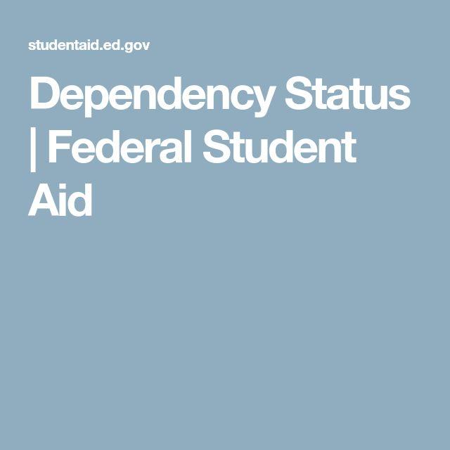 Dependency Status | Federal Student Aid
