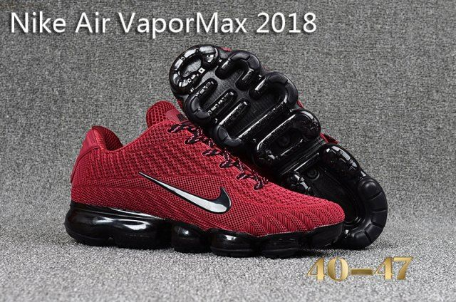 49b5f9e381c7 Superior Quality Nike Air Vapormax Flyknit 2018 KPU Deep Red Black Mens  Running Shoes Sneakers