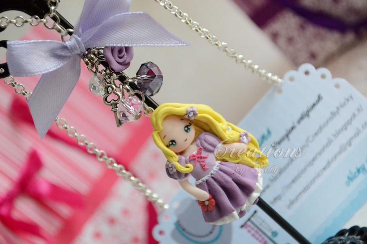 Collana con Rapunzel - Articolo interamente realizzato a mano in fimo - Disney Princess, by Creations , 13,00  su misshobby.com