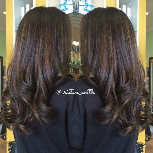 25 beautiful chocolate brown highlights ideas on pinterest subtle chocolate brown highlights to break up my clients dark base beautybycristen pmusecretfo Image collections