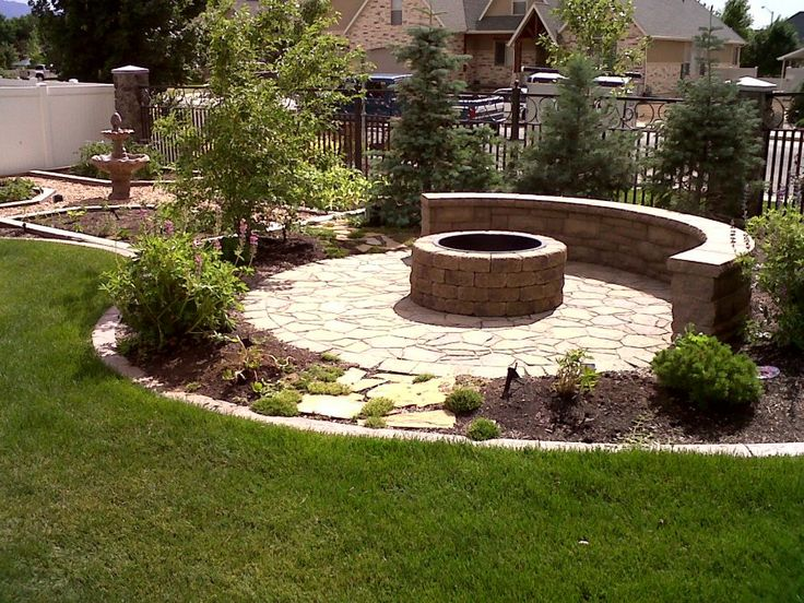 Idea to help blend my patio and firepit into the rest of the yard~duvalllandscaping.com