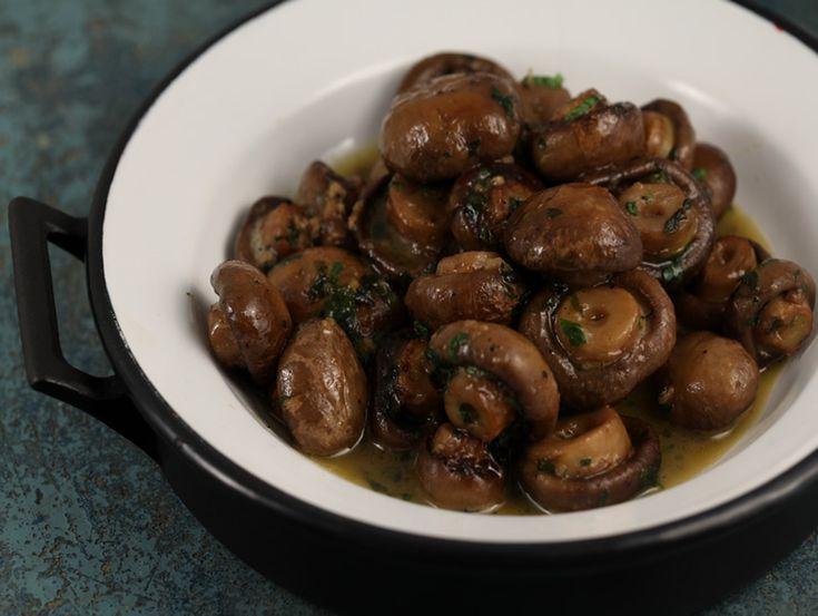 Ciuperci cu usturoi la cuptor