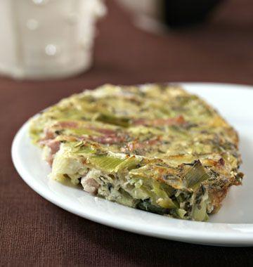 Clafoutis aux poireaux et lardons (sans lactose, sans gluten) - Recettes de cuisine Ôdélices