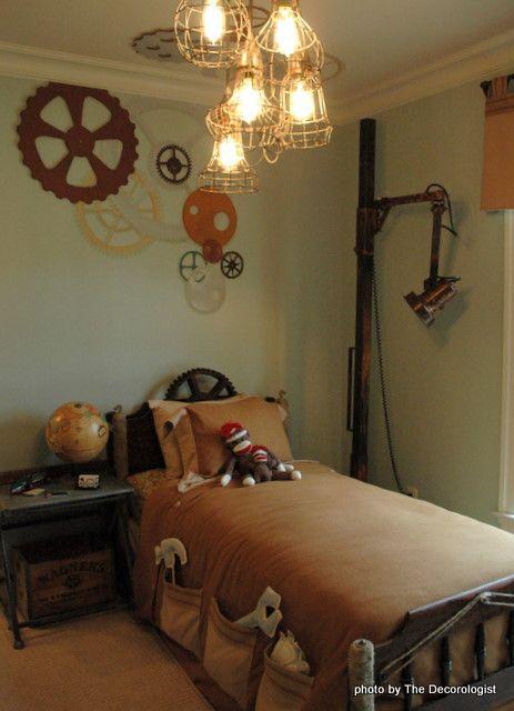 25 Interior Designs With Steampunk Style. Messagenote.com. Kids Room,  Industrial Floor