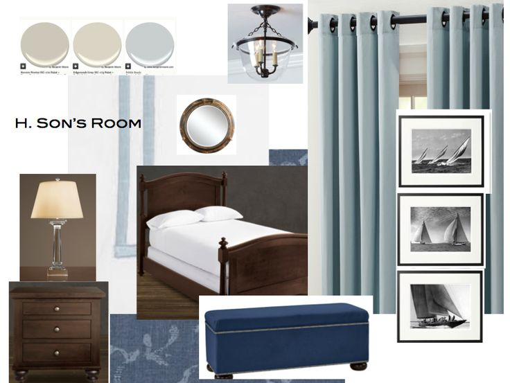 Superb Masculine Nautical Bedroom And Prints