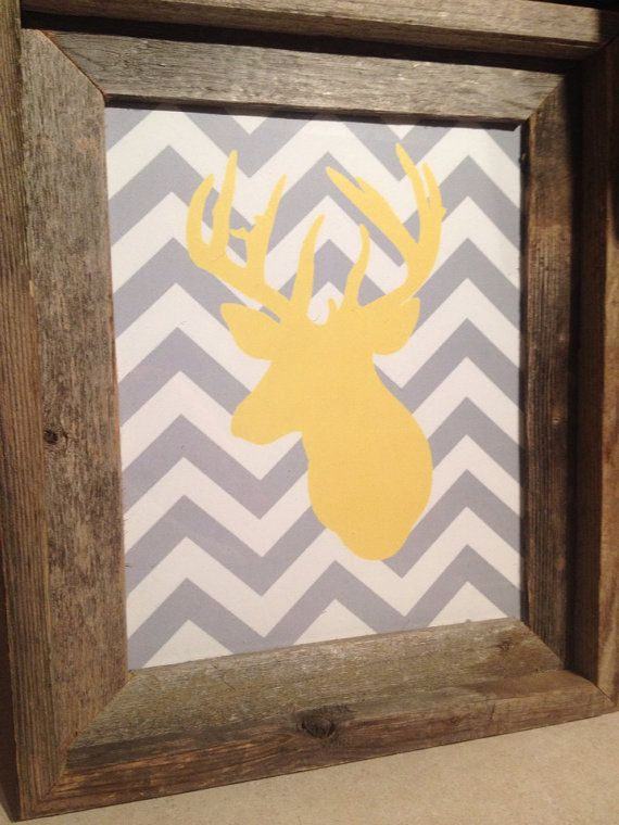 Rustic deer picture decor on Etsy, $25.00