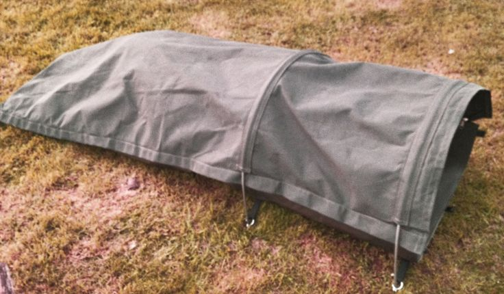 Canvas Bedroll With Pole Kit In Use Wynnchester Products