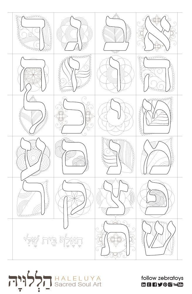 Jackie S Alef Bet Learning Hebrew Alphabet Special Needs Kids Coloring Page Back To School Instructio Alphabet Coloring Pages Alphabet Coloring Hebrew Alphabet