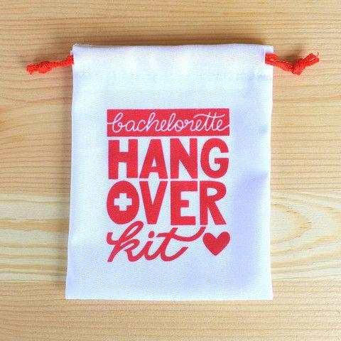 Bachelorette party favor - bachelorette hangover kit bag