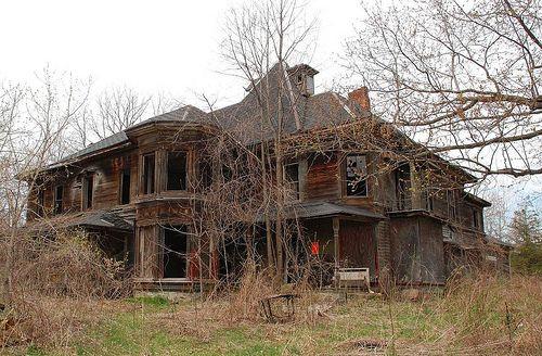 Ghostly Mansion in Color by VermontDreams, via Flickr