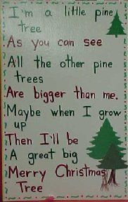 i'm a little pine tree- chart song