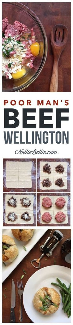 This recipe for poor man's beef wellington is an inexpensive and simple way for the everyday cook to get a delicious and fancy dish without alot of skill and work!