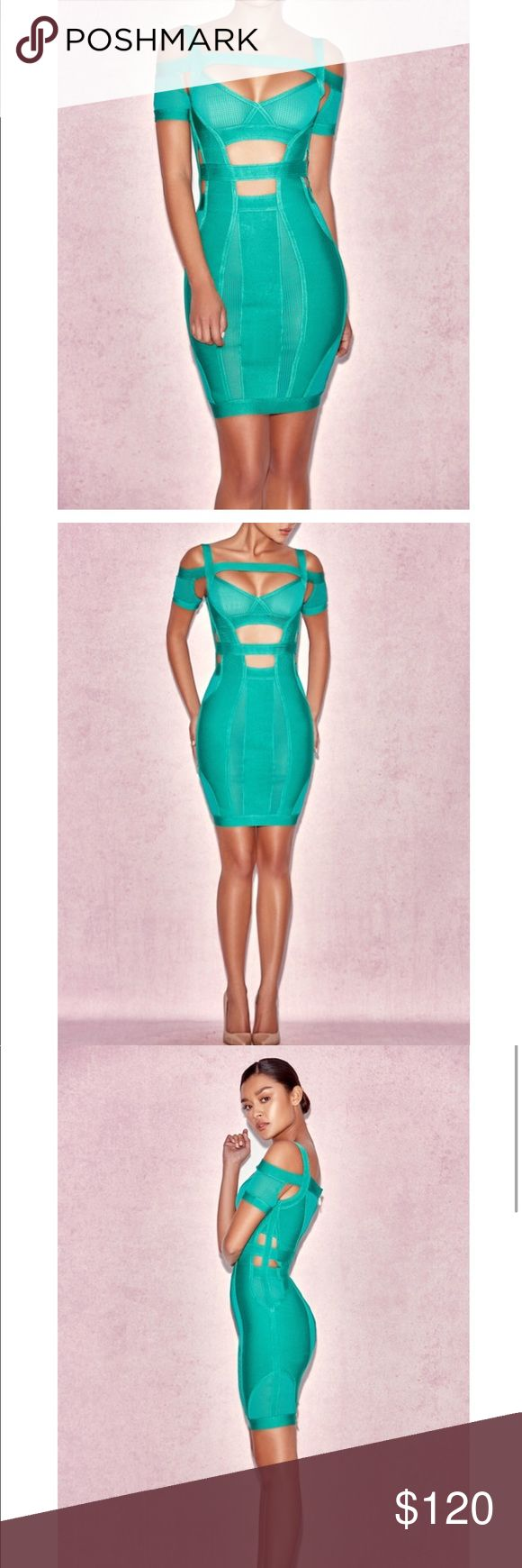 Bandage dress Sexy green bandage dress. Perfect for the summer. (Under bebe for views) dress have never been worn. But I took off the tags. bebe Dresses Mini